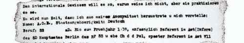 Auszug Brief von Eichmann an Adenauer